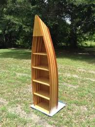 Canoe Bookcase Furniture Rabon River Runners Wood Boat Shelves Row Boat Shelf Boat Shelf