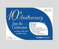 great business invitation e card template design with blue and