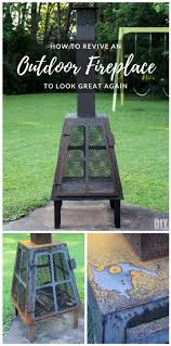 how to revive an outdoor fireplace to look great again