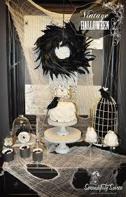 vintage black and white halloween images serendipity soiree dessert table vintage halloween inspiration