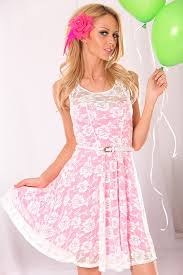 white neon pink floral mesh lace dress cute u0026 trendy casual