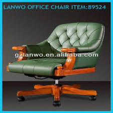 Antique Office Furniture For Sale by Discount Price Leather Antique Wood Office Chair Height Adjustment