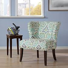 Armless Accent Chair Armless Accent Chair Blue Green See Below