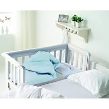 Cribs That Attach To Side Of Bed Troll Bedside Crib White Kiddies Kingdom Baby Registry