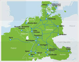 frankfurt on world map high speed trains eurail
