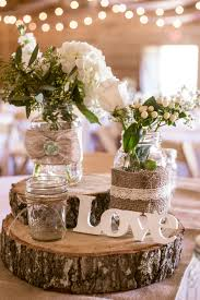 wood centerpieces rustic wooden chargers with simple centerpieces wedding