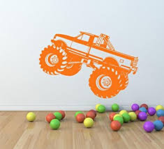 amazon kids boys monster truck wall decal small monster