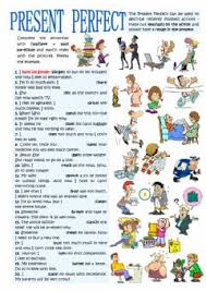 english exercises present perfect tense time expressions
