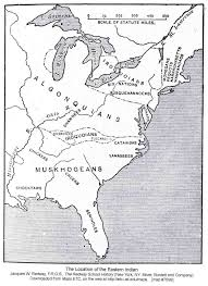 Map Of Eastern Seaboard Usa by Eastern Tribes