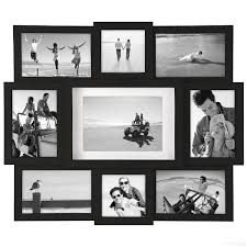 black 9 opening collage frame for 4x4 4x6 5x7 prints by malden