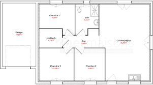maison 3 chambres plain pied plan maison 3 chambres plain pied