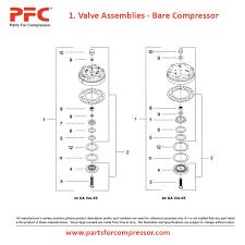 05 01 valve assemblies bare compressor for 15t ir 15t parts