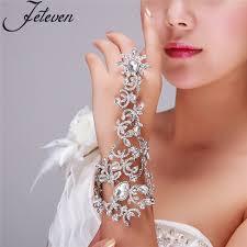 bridal ring bracelet images Clear crystal bridal ring bracelet luxury tear drop rhinetone jpg