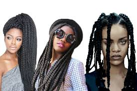 womens hairstyle the box style big box braids for black women to style immediately hairstyles