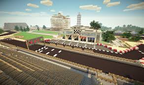 Map Formula Formula One Racing Track Minecraft Project