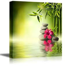 wall26 com art prints framed art canvas prints greeting wall26 canvas prints wall art zen stones red hibiscus and bamboo on the water spa concept home decoration stretched gallery canvas wrap giclee print