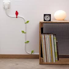 wall mounted l with cord hide cords on wall weliketheworld com