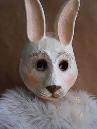 paper mache bunnies rabbit mask bunny mask paper mache animal mask stand by me bunny