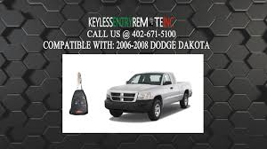 dodge dakota key fob how to replace dodge dakota key fob battery 2006 2007 2008