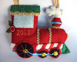 felt holiday train ornament imagine our life