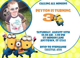 design free minion birthday invitation printable with modern hd