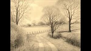 landscape pencil drawings youtube