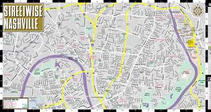Street Map Of Downtown Chicago by Streetwise Nashville Map Laminated City Center Street Map Of