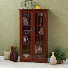 Cherry Wood Bookcase With Doors Cherry Bookcases Bookshelves Hayneedle
