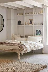 Platform Bed White Thinking Bohemian White Platform Bed