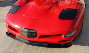 carbon fiber corvette 97 04 c5 corvette carbon fiber zr1 style front splitter
