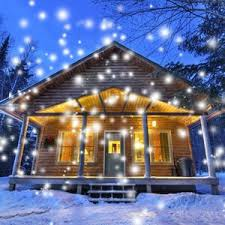 Amazon Outside Christmas Decorations Amazon Com Gaxmi Led Christmas Projector Lights Snowfall