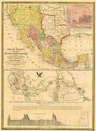 map of mexico and america america map mexico yucatan and california 1847
