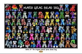 mardi gras for mardi gras bead dog poster haydel s bakery new orleans la