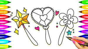 magic wand coloring pages learn colors kids princess