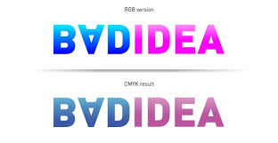 correct file formats rgb and cmyk