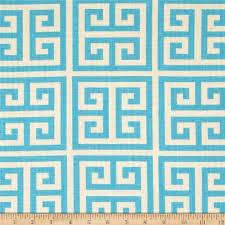 Greek Key Home Decor by Fabric Yardage Mandarin Blue Towers Fabric Premier Prints Greek