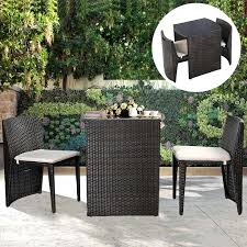 Patio Table Set Small Outdoor Table And 2 Chairs Small Patio Furniture Set Rattan