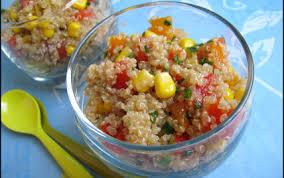 cuisiner du quinoa recette salade croquante de quinoa aux poivrons 750g