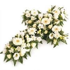 funeral flower funeral flowers cross