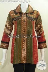 desain baju batik untuk acara resmi pakaian batik klasik desain formal baju batik berkelas cocok untuk