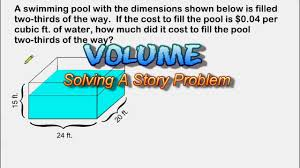 Volume Of Rectangular Prisms Worksheets Volume Story Problem Capacity And Cost Youtube