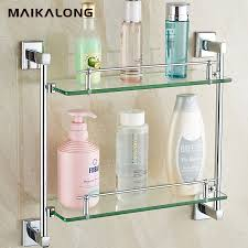 Bathroom Shelve Square Design Bathroom Shelves Glass Shelf Chrome Finish