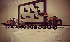 Lighted Halloween Garland by Decorating Ideas Exquisite Image Of Fireplace Decoration Design