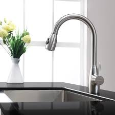 Kraus Kitchen Faucets Kraus Kitchen Combo Set Stainless Steel Single Gooseneck Faucet By