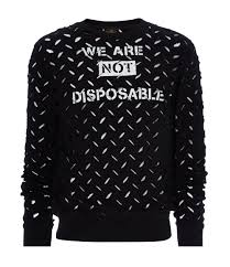 vivienne westwood black we are not disposable sweater