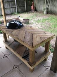 Build A Heavy Duty Picnic Table by Build A Barbecue Grill Table Diy Projects For Everyone