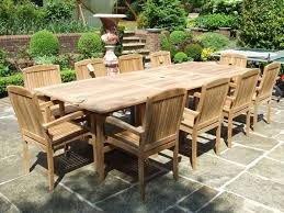 outdoor u0026 garden 11 piece outdoor teak patio furniture set with