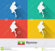 Thailand Map In World Map by Map Of Thailand And Laos Close Up Image Stock Photo Image 50644160