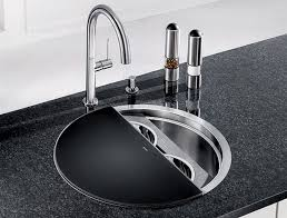 round stainless steel kitchen sink stunning modern kitchen sink design round shaped steel kitchen