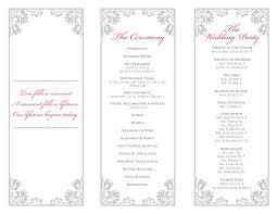 bi fold wedding program template bi fold wedding programs atdisability